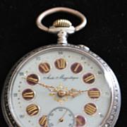 Large Fancy Swiss 800 Silver OF Pocket Watch, c. 1885