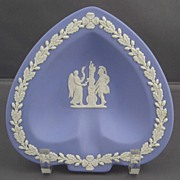 Wedgwood Blue Jasperware Small Spade Shape Ashtray