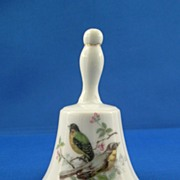 Decorative Porcelain Bell with Songbird Pair Motif