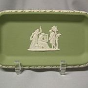 Wedgwood Sage Jasperware Small Oblong Tray