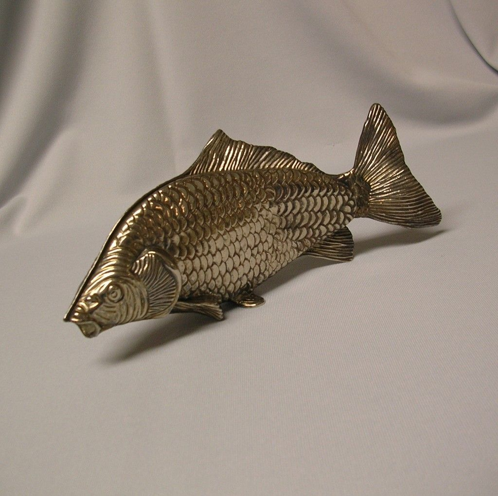 Large Silver Plated Fish Napkin / Serviette  Holder