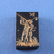 Vintage Letterpress Printers Block - Duck Hunter