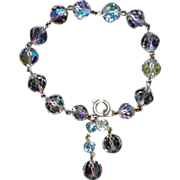 Aurora Borealis Crystal Dangle Bracelet