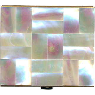 Vintage Mother of Pearl Compact by Kaycraft