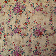 Sweet Vintage Cotton Lawn Fabric for Doll Dressing