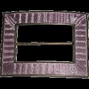 Purple Enamel Sterling Pin Guilloche technique