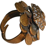 Pentti Sarpeneva Modernist bronze ring Finland