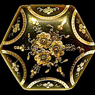 Victorian Pique Brooch