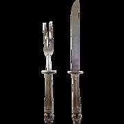 """Estate Sterling Silver Carving Set - Gorham """"Hispana-Sovereign"""""""