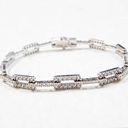 Vintage 3.24 CTW Diamond Bracelet 18k White Gold
