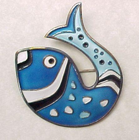 Item ID: KA Andersen Fish Brooch In Shop Backroom