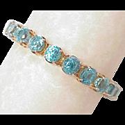WOW 50 Carat Natural Blue Zircon Line Bracelet