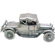 Vintage Sterling Silver Miniature 1913 Cadillac Coup Automobile