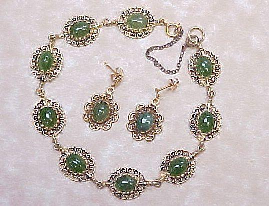Item ID: KA Jade Bracelet & Earrings In Shop Backroom