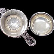 Sterling Silver Tea Strainer Set Denmark, S Christian