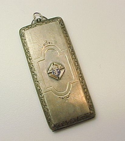 Sterling Silver Enameled Knights Of Columbus Pendant, Badge, Money, Stamp Holder