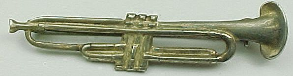 Item ID: KD Trumpet Brooch In Shop Backroom