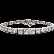 6.00 ctw Diamond & Platinum Art Deco Bracelet