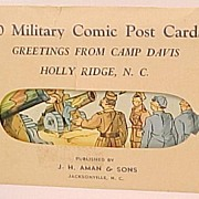 10 Sealed Envelope Military Comic Post Cards WW II  Camp Davis J. H. Aman & Sons