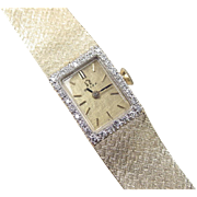 Vintage 14k Gold Diamond OMEGA Watch