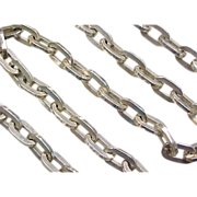 "CHUNKY Large Oval Link Sterling Chain Necklace 28"" ~ 158.9 Grams"