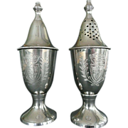 Muffineer Silverplate Sugar and Flour Shakers