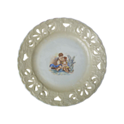 Victoria Carlsbad Austria Plate With Cherub and Little Girl  #28