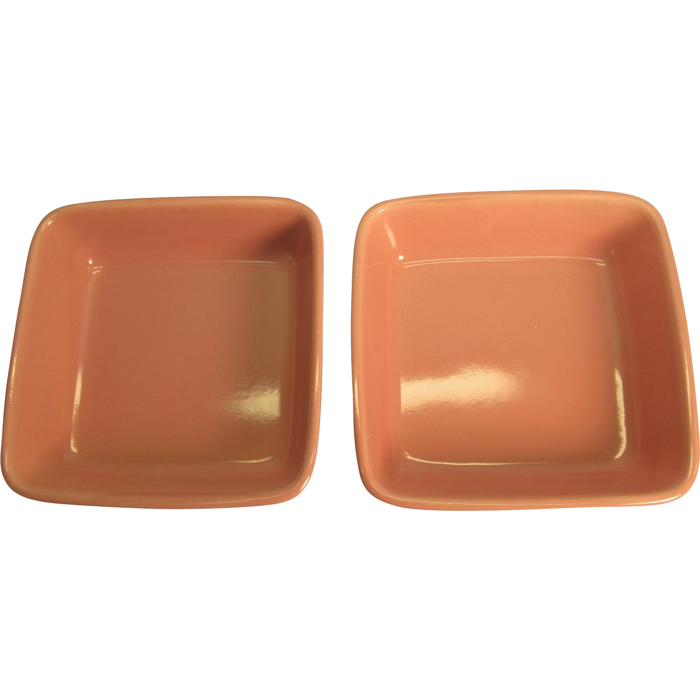 Vintage Pink Stoneware Oven Proof Individual Souffle Dishes Made In Japan