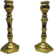 Solid Brass Candlestick Holder Virginia MetalCrafters