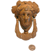 Door Knocker Bacchus Face Solid Brass With Bronze Finish