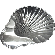 Sea Shell Shape Footed Dish Silverplate International Silver
