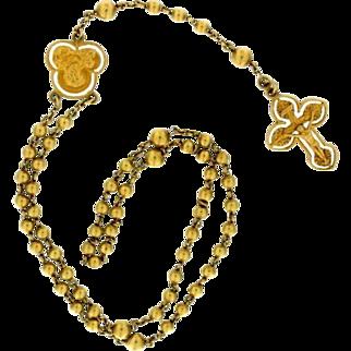SALE Vintage 14K Child's Rosary