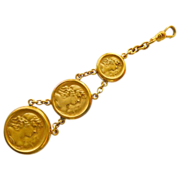 Antique Gold Filled Art Nouveau 3 Medal Watch Fob/Chain  - Circa 1900