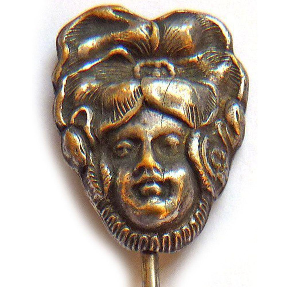 Antique Art Nouveau Silver Plated Stick Pin - Circa 1900