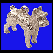 SCHNAUZER Sterling Silver 3D Charm Vintage 1970s