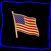 14K Gold United States Flag Pin