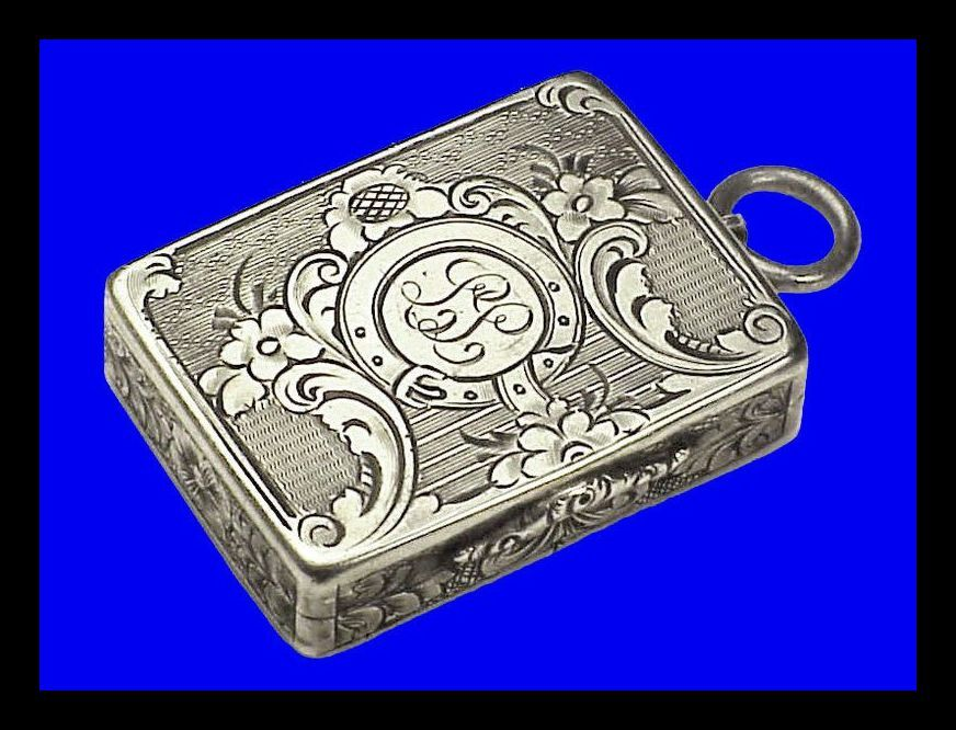 VICTORIAN VINAIGRETTE Charles Washington Shirley Deakin Garter Perfume Pendant