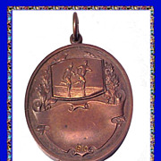 The Lawrenceville School New Jersey Antique 1910 Bronze Medal
