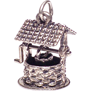 Large Sterling Silver 3D Wishing Well Charm