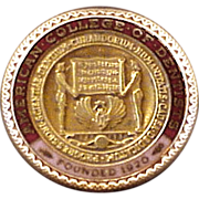 American College of Dentists 14K Gold Fellowship Lapel Pin