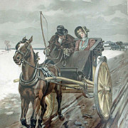 Antique Print Thulstrup 1891 Love In Olden Days