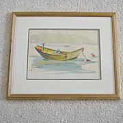 Original Watercolor Painting B. Chase Monhegan Maine