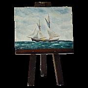 Miniature Painting Nautical Seascape