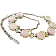 Art Glass Faux Opal Confetti Glass Necklace