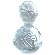 Frosted Glass Perfume Scent Bottle