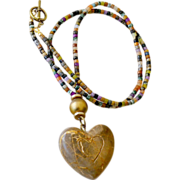 Heart of Stone Necklace Huge Pendant