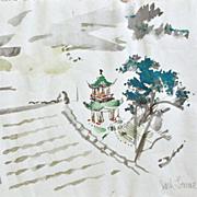 Jack Levine Print Oriental Scene