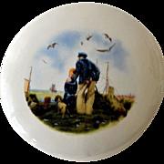 Porcelain Trinket or Vanity Box Sailor Boy Dog