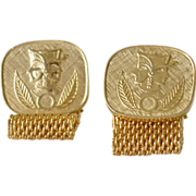 Wrap Cuff Links Egyptian Theme