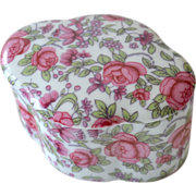Rose Chintz Porcelain Trinket Box